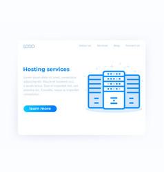 hosting services website design template vector image