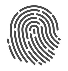 human fingerprint icon identification and vector image