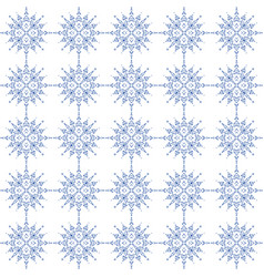indigo blue and white seamless geometric pattern vector image