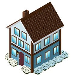 Isometric Tudor Style house vector