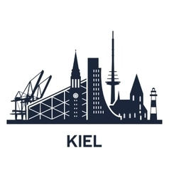kiel city skyline vector image