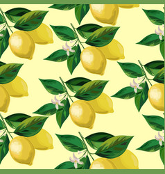Lemon seamless background vector
