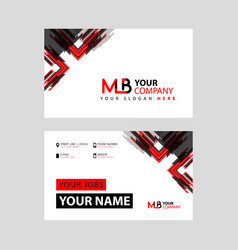 Mb logo letter with box decoration on edge vector