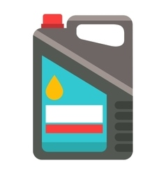 Metal canister of gasoline cartoon vector