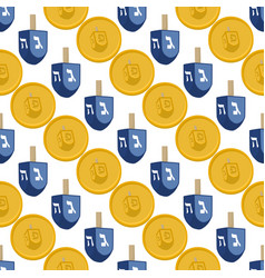 on theme big colored pattern hanukkah vector image