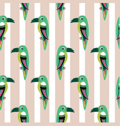 Parakeet parrot pattern seamless bird vector