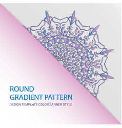pastel color circular pattern flower round symbol vector image