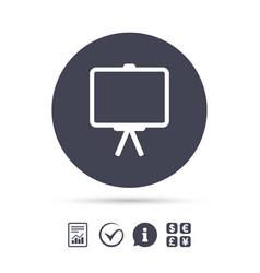 Presentation billboard sign icon ppt symbol vector