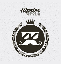 Retro hipster style element icon vector