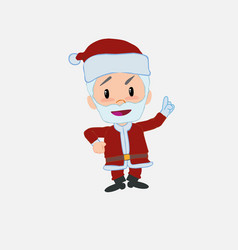 Santa claus talking very determined and optimistic vector