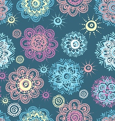 seamless background with abstract floral elements vector image vector image