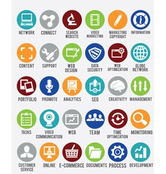 Set of internet services icons vector image