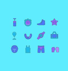 Set simple line icons ufc vector