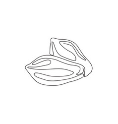 single continuous line drawing two whole healthy vector image