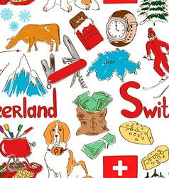 Sketch Switzerland seamless pattern vector image