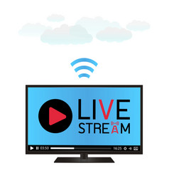 smart television using a live stream vector image