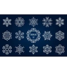 Snowflake Emblem Set vector image
