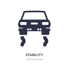 Stability icon on white background simple element vector