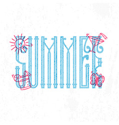 summer retro sign badge banner template vector image