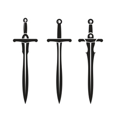 Sword ancient weapon design vector
