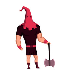 The court executioner color flat icon medieval vector