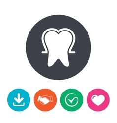 Tooth enamel protection sign icon Dental care vector