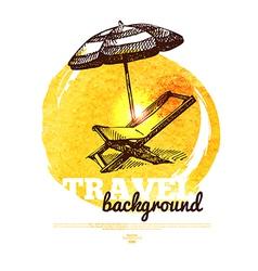 Travel tropical design banner vector image