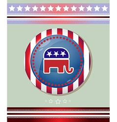 Usa Republican Party Elephant Symbol Banner vector