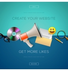 Web design content create your website vector