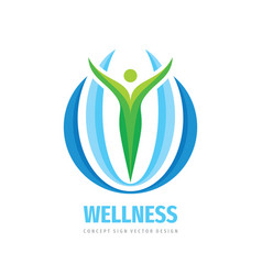 Wellness business logo template design element vector