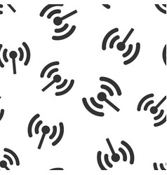 Wifi internet sign icon seamless pattern vector
