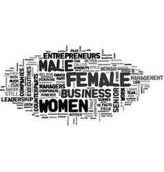 Women in business text word cloud concept vector