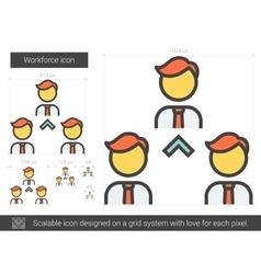 Workforce line icon vector