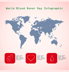 world blood donor day 14 june infographics vector image