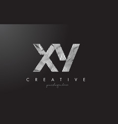 Xy x y letter logo with zebra lines texture vector