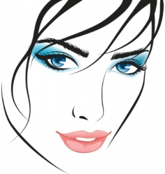 beauty girl face design elements vector image vector image