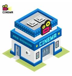 Cinema building vector image vector image