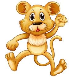Cute little cub jumping vector image