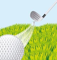 golf sport vector image