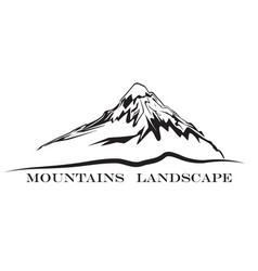 mountains landscape silhouette abstract high hill vector image