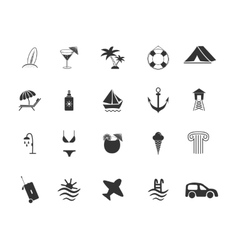 Set of travel and beach Icons vector image vector image
