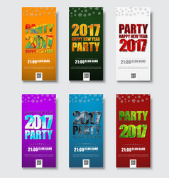 template flyer for christmas party 2017 vector image vector image