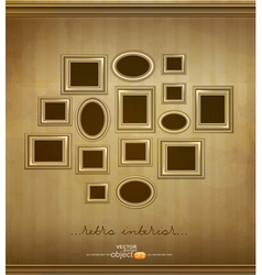 vintage picture frames vector image vector image