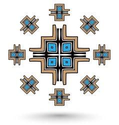 aztec cross mandala vector image