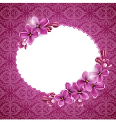 Floral background in pink vector image