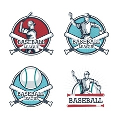 Icon set Baseball sport design graphic vector image vector image