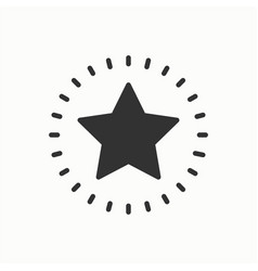 star line outline icon best choice favorite sign vector image