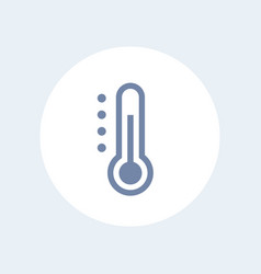 thermometer icon isolated over white vector image vector image