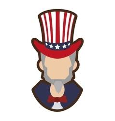 cartoon uncle sam symbol icon vector image