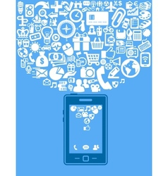 smartphone with application vector image vector image